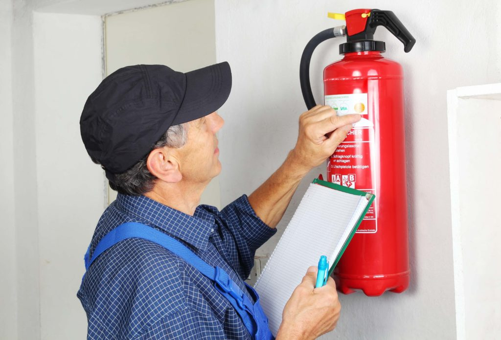 Fire extinguisher maintenance